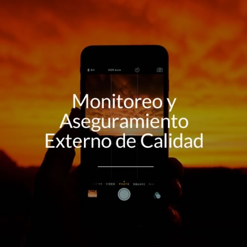 monitoreo y aseguramiento externo de calidad